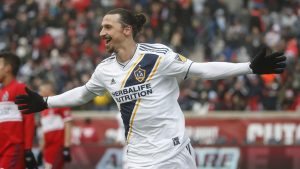 Zlatan Ibrahimovic  LA Galaxy.